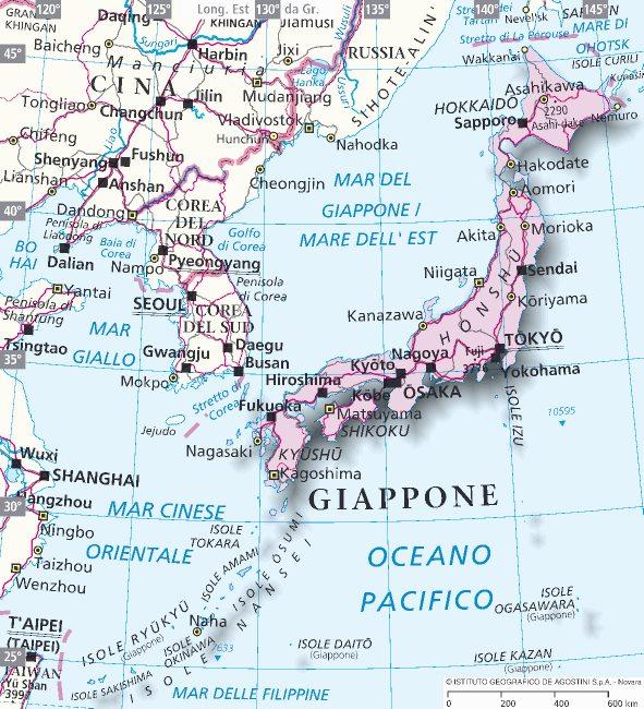 Cartina Italia Giappone.Il Clima Del Giappone